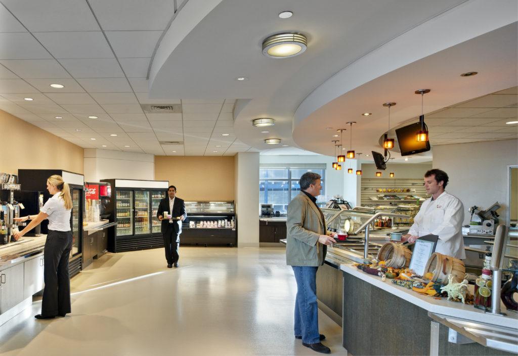 New Balance Lobby, Location: Brighton MA, Architect: CBT Architects