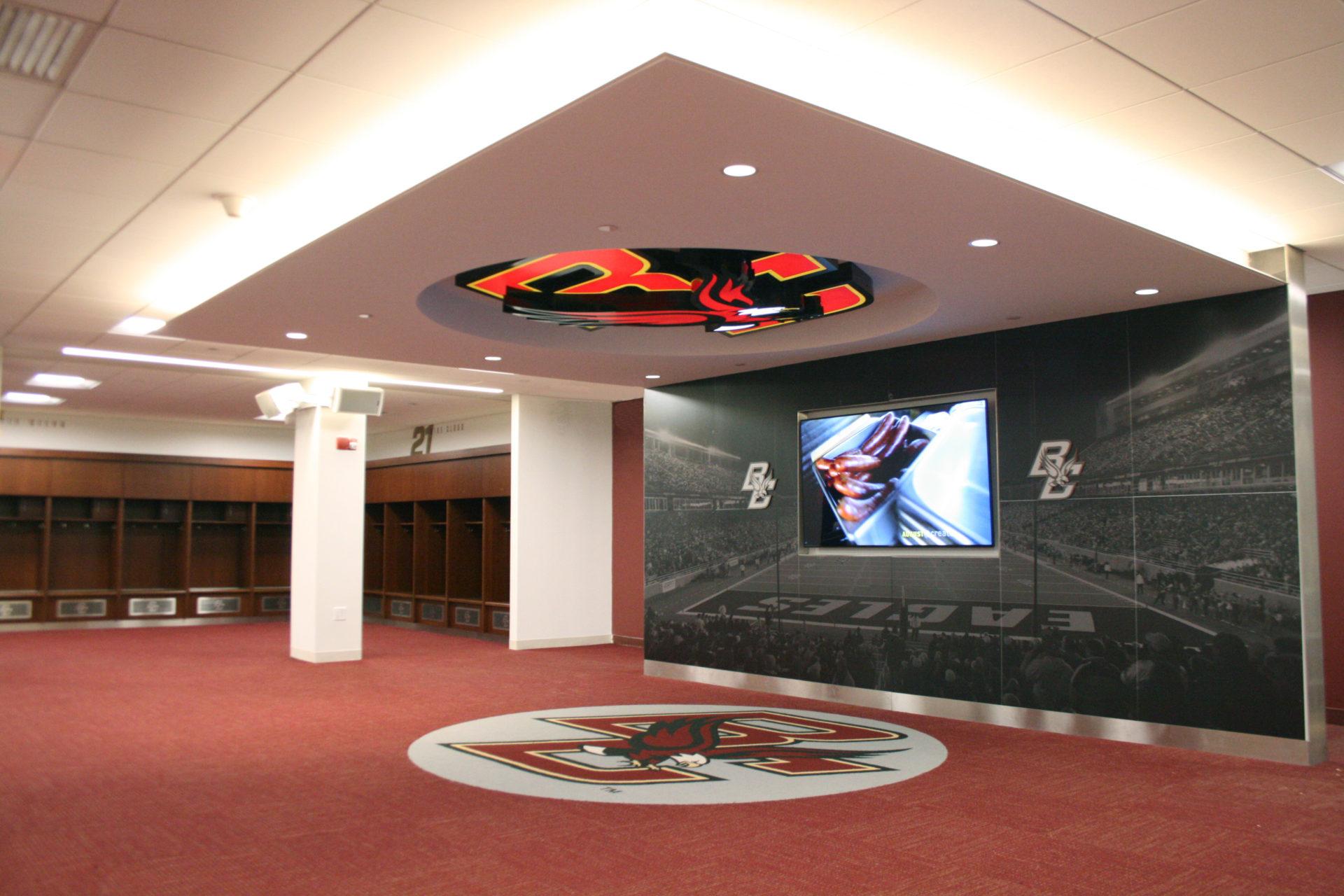 Boston College Football Locker Room - Chapman Construction