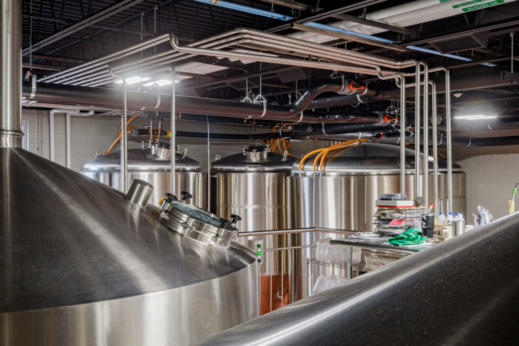 Interior photography of Night Shift Brewery in Everett MA by Boston photographer, Randall Garnick Photography.